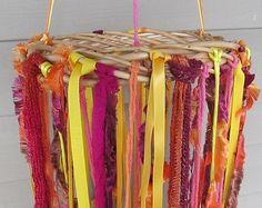 Gypsy Boho Yarn Mobile In Sun Colors Wall Art - Windsock on Etsy, $20.00