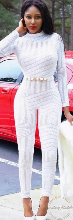 All White Glam // Fashion Look by Pasxy
