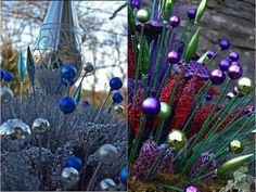 DIY Christmas Ornament Garden Stakes – Do-It-Yourself Fun Ideas - Gardening Christmas Garden Decorations, Garden Ornaments, Diy Christmas Ornaments, Christmas Christmas, Holiday, Garden Crafts, Diy Garden Decor, Garden Ideas, Garden Whimsy