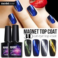 - Moldelones Soak Off Magnetic Cat Eye Gel Nail Polish Base Top Coat Cat Eye Nails Polish, Uv Nails, Nail Manicure, Gel Nail Polish, Manicure Tools, Nail Tools, Gel Glue, Cat Eye Gel, Nagel Gel
