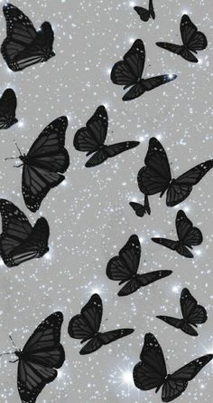 Cute Black Wallpaper, Purple Wallpaper Iphone, Phone Wallpaper Images, Iphone Wallpaper Tumblr Aesthetic, Black Aesthetic Wallpaper, Iphone Background Wallpaper, Scenery Wallpaper, Cartoon Wallpaper, Butterfly Wallpaper Iphone