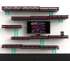 Donkey Kong Video Game Shelf by Igor Chak
