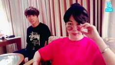 BTS's Jimin Films Jungkook And V Dancing In Their Hotel Hallway To Earn Entry Into Live Show   Soompi
