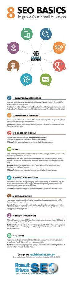 8 Basic SEO Tactics to Drive Your Small Business (scheduled via http://www.tailwindapp.com?utm_source=pinterest&utm_medium=twpin&utm_content=post19996918&utm_campaign=scheduler_attribution)
