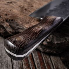7.6inch Handmade Forged Kitchen Knife Butcher Meat Chopping Cleaver Chinese Chef Knife 5CR15 Stainless Steel Forging Knives, Forged Knife, Copper Nails, Butcher Knife, Cleaver Knife, Wood Knife, Gifts For Cooks, Knife Handles, Chef Knife