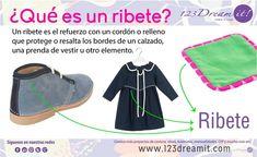 El ribete es uno de los elementos más usados en la decoración de prendas, calzado u otros elementos, da click en la imagen para saber qué es.