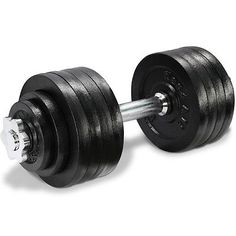 Yes4All Adjustable Dumbbell Set Weight Cap Fitness Gym   52.5 Lbs   DL2ZH8D