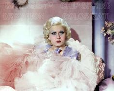 JEAN HARLOW IN DINNER AT 8 (PINK BEDROOM) BEAUTIFUL COLOR PHOTO BY CHIP SPRINGER . Featured Ebay Listing. Please visit my Ebay Store, Legends of the Silver Screen, at http://legendsofthesilverscreen.com to see the current listings of your favorite Stars now in glorious color! Thanks for looking and check out my Youtube videos at https://www.youtube.com/channel/UCyX926rA5x4seARq5WC8_0w