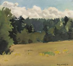 Fairfield Porter (American, 1907-1975), South Meadow, 1963. Oil on canvas, 18 1/8 x 20 1/8 in.