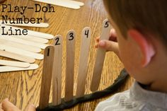 Play-Doh Number Line--number recognition and fine motor skills