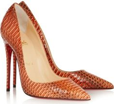 Christian Louboutin Papaye, Orange Pumps Christian Louboutin New So Kate 120 Watersnake Rocaille Pumps 9 Papaye Orange Skin Size 9 25% Off | Tradesy