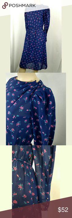 CHARLEE ALLISON VINTAGE RETRO DRESS. size 9-10 Beautiful vintage floral dress. By Charles Allison 1980's CHARLEE ALLISON Dresses