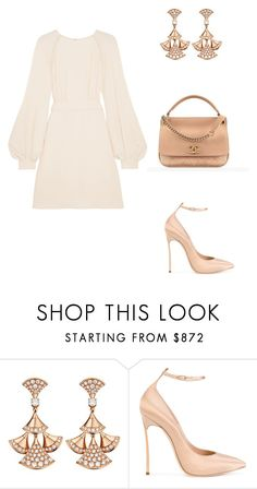 """Simple elegance"" by kamiren ❤ liked on Polyvore featuring Bulgari, Casadei, Chanel and Chloé"