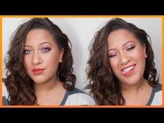 Copper Eyes & Pumpkin Lips| Warm Tone Makeup| LisaAngela1 - YouTube