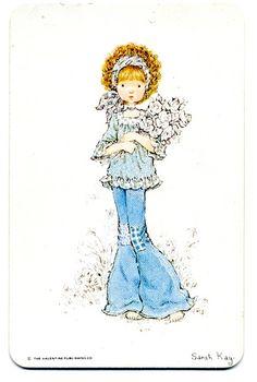 I loved Sarah Kay Sarah Key, Holly Hobbie, Mandy Kay, Illustrations Vintage, Creation Art, Digi Stamps, Cute Illustration, Precious Moments, Vintage Pictures