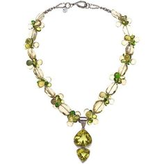 Deborah Liebman Golden Green Citrine Pendant Peridot Lemon Quartz... ($5,775) ❤ liked on Polyvore featuring jewelry, pendants, necklaces, drop necklaces, green, charm pendants, golden pendant, silver pendant, silver charm pendant and silver pendant jewelry
