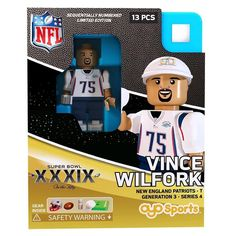 9d51e683ba8 Super Bowl Xxxix 2005 NFL Oyo Sports Mini Figure  Vince Wilfork