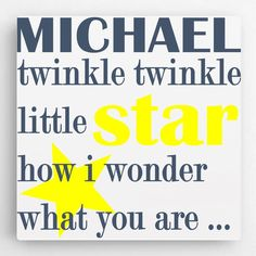 Personalized Girls Room Sign, Twinkle Twinkle Little Star Kids Room Sign, Girls Room Decor, Kids Wal Personalised Gifts Home, Personalised Canvas, Personalized Signs, Canvas Signs, Wall Canvas, Canvas Art, Kids Canvas, Childrens Gifts, Twinkle Twinkle Little Star