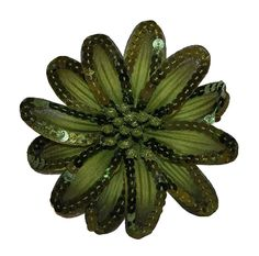 WD2U Girl Sequin Flower Alligator Clip Hair Bow Brooch Scarf Pin Olive Green ** Continue to the product at the image link.