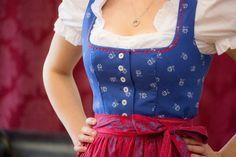 Dirndl Lore by Wenger 70 cm - Minidirndl - Damen - Country Hotel Kleidung - Dirndl - Trachtenmode - Landhausmode und mehr