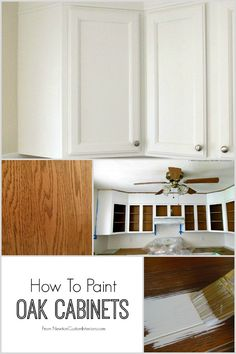 How To Paint Oak Cabinets from NewtonCustomInteriors.com.