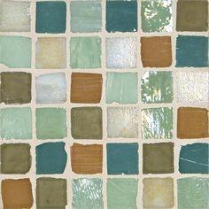 "Monochromatic 1""x 1"" Mosaic Mosaic Blend Otedama by Stone & Pewter Accents on HomePortfolio"
