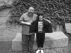 Ai Wei Wei and Rei Kawakubo via I Want To Be A Roitfeld