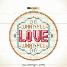 Funny Quote Cross stitch pattern PDF - Do from redbeardesign on