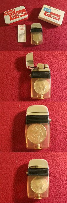 collectibles: 1967 40 % Silver Kennedy Half Dollar Scripto Lighter New In Box BUY IT NOW ONLY: $199.99