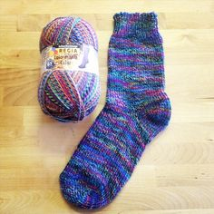 This new Regia sock yarn in the Colormania Colors is too cool. It's like a…