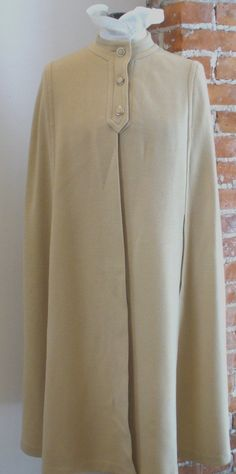 Vintage Kimberly Cape Double Knit Wool  Size 8 by TheOldBagOnline on Etsy