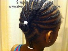 French-braided Cornrows (www.simplybraidsandcurls.blogspot.com)