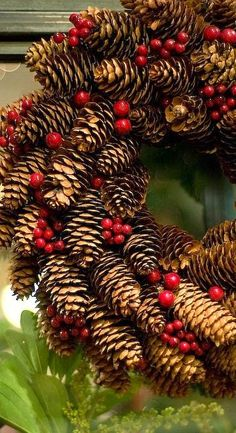 Pine cone wreath...