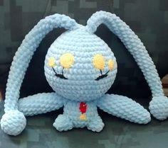 Manaphy - Pokémon Character - Free Amigurumi Pattern here: http://crochet-lair.blogspot.se/2015/04/manaphy-amigurumi-pattern.html