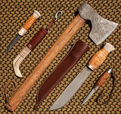 Bushcraft set. (for hunting, tools/weapons making, clearing paths through the forest, breaking into hard to reach areas, and survival combat)