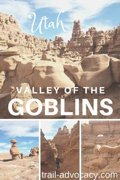 Come see what Utah hides behind huge rock walls.  The Valley of the Goblins!  It's worth the short detour along your southern Utah adventure!