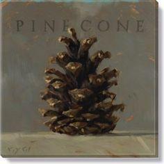 pinecone fall wall art