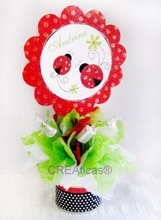 topiario de flores para baby shower