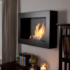 Anywhere Fireplace Soho Black Satin Anywhere Indoor Fireplace. Next home purchase.