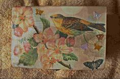 'Bird and butterflies' casket