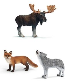 North American Forest Animal Figurine Set #zulily #zulilyfinds