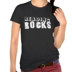 Reading Rocks T Shirts #Personalized #tshirt
