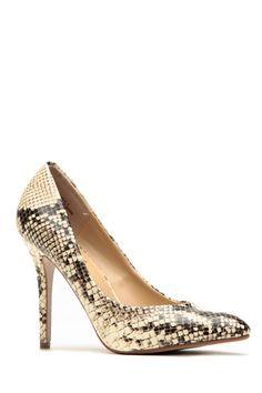 8dfdb40b5f8b Anne Michelle Snake Print Pointy Toe Heels Pointed Toe Heels, Stiletto  Heels, High Heel