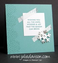 Nov 2014 Simply Snowflake Paper Pumpkin Alternative Card Designs + GIVEAWAY #paperpumpkin #stampinup www.juliedavison.com