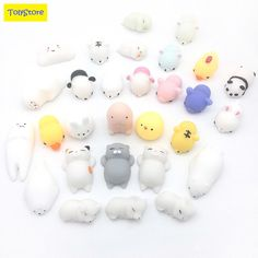Mochi soft animal squeeze stretch compress squishy decompression kids toys art #discountHEH