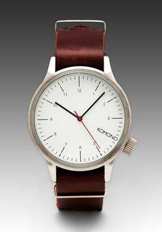 KOMONO Magnus in Silver/Burgundy - Watches