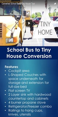 Tiny House Tour: School Bus to Tiny House Conversion | Tiny Quality Homes