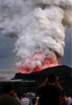 Hawaii volcano erupting