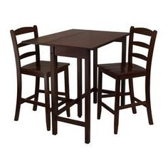 Winsome Wood Lynnwood Antique Walnut Dining Set With Rectangular Counter Table 94334