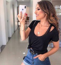Imagem relacionada Crop Tops, Tank Tops, Lingerie, Camisole Top, Popular, Instagram, Women, Fashion, How To Take Photos